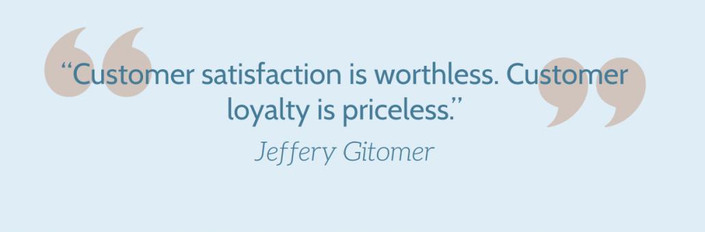 Customer experience thinking Jeffery Gitomer quote