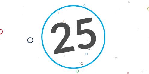25 in a circle