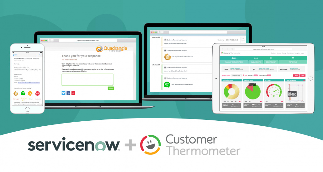 ServiceNow survey customer feedback cast ratings