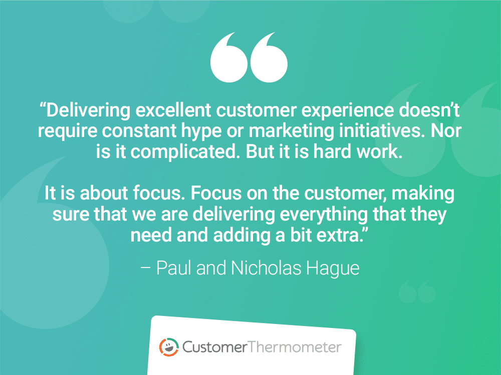 paul and nicholas hague customer thermometer customer experience quotes