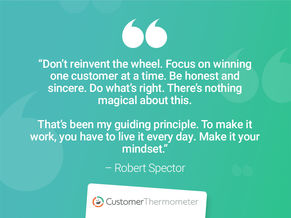 robert spector customer thermometer customer experience quotes
