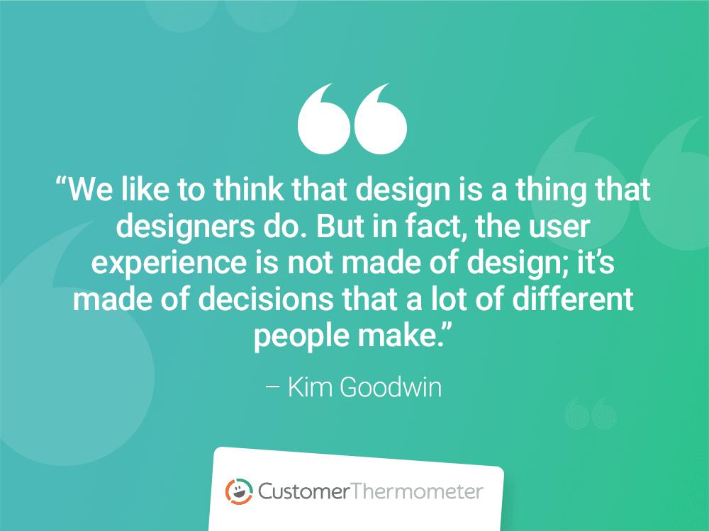 kim goodwin customer thermometer CX Quotes