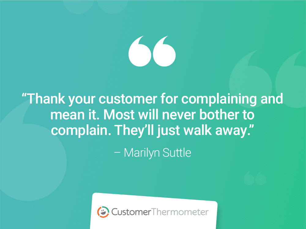 marilyn suttle customer thermometer CX Quotes