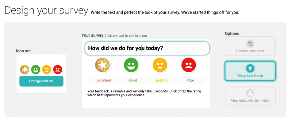 Customer Thermometer Survey in 60 Seconds_Design your Survey