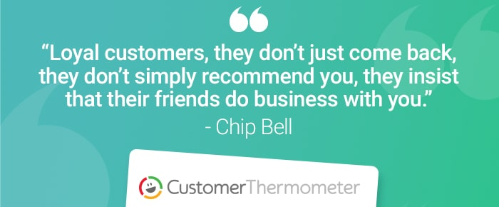 service desk customer thermometer quote chip bell