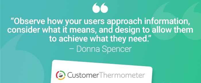 service desk customer thermometer quote donna spencer