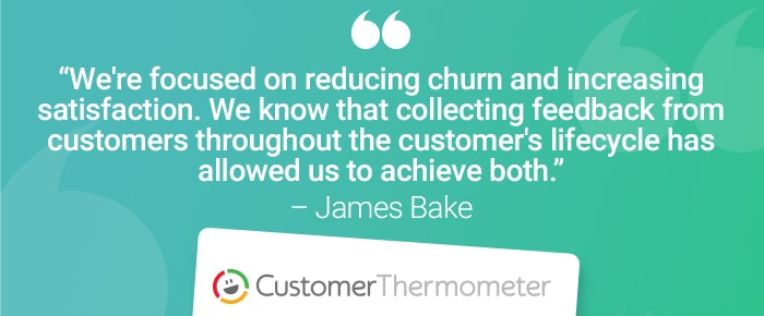 service desk customer thermometer quote james bake