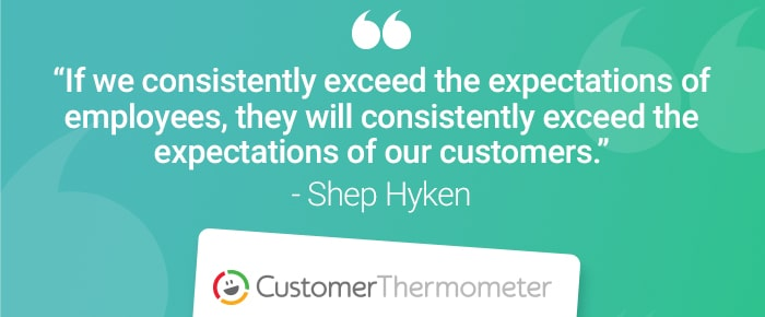 service desk customer thermometer quote shep hyken