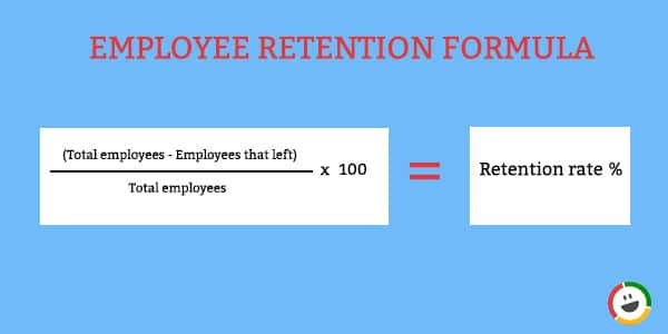 Employee retention rate formula