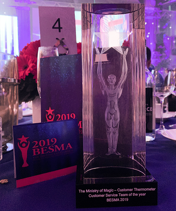 Customer Thermometer BESMA Awards 2019 Ministry of Magic trophy