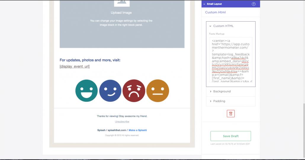 Insert Custom HTML