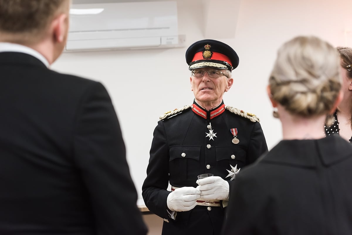 Customer Thermometer queen's award reception lord lieutenant
