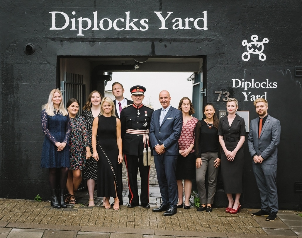Customer Thermometer queen's award reception diplock's yard