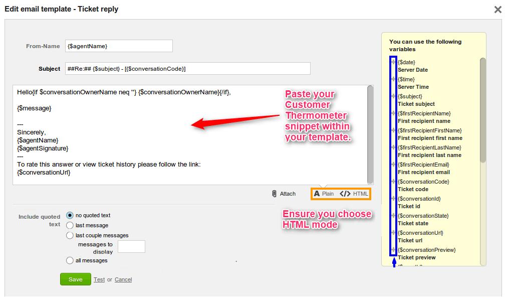 LiveAgent 1-click survey