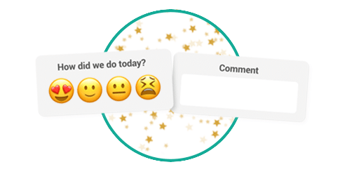 customer thermometer emoji survey smiley face