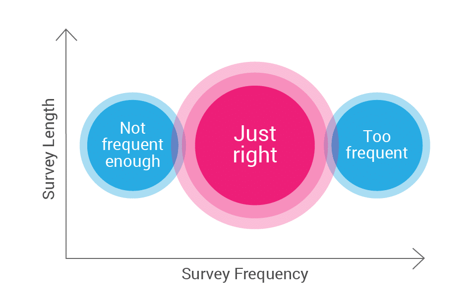 ideal survey frequency