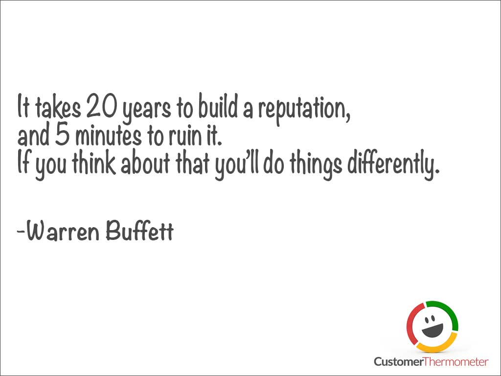 Warren Buffett customer service quote