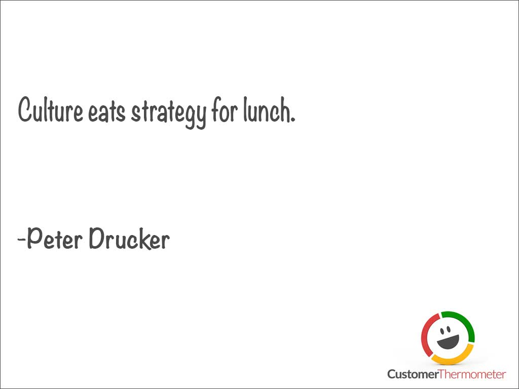 Peter Drucker customer service quote