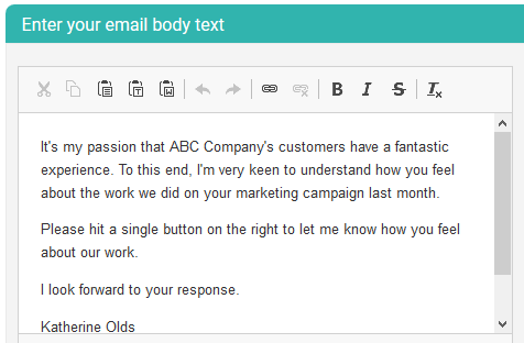 email survey body text