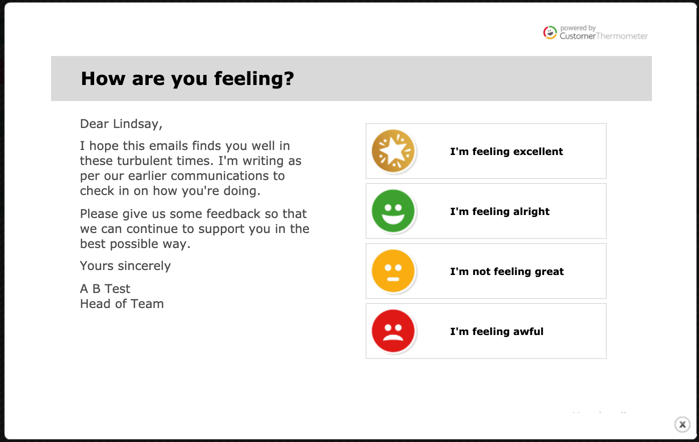 employee experience covid pulse feedback survey