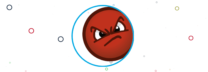 angry face in circle