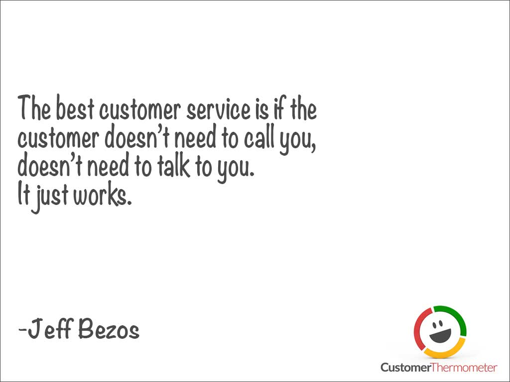 Jeff Bezos customer service quote