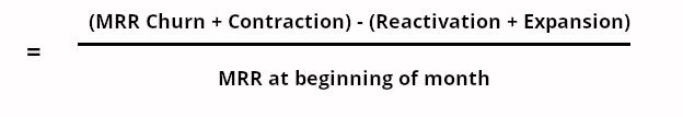 net mrr churn equation