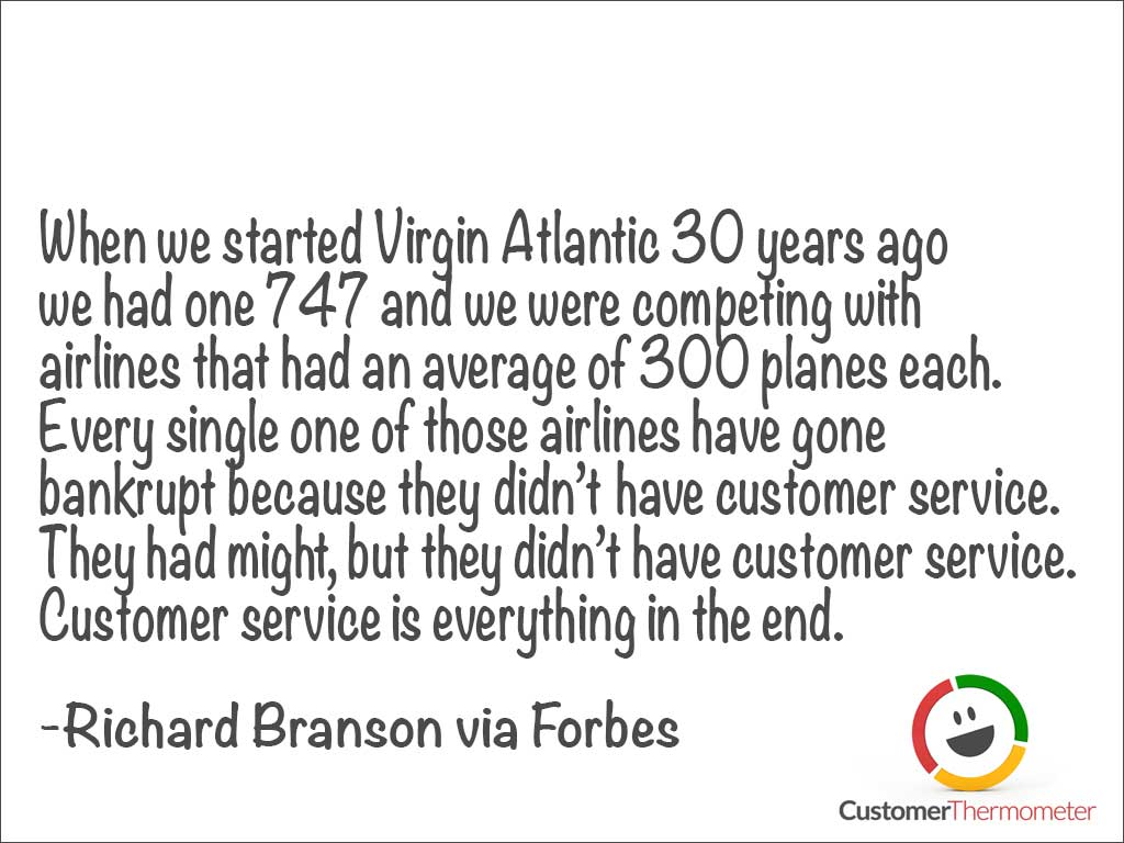 Richard Branson customer service quote