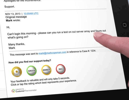 Easily answereble Salesforce Desk survey on iPad