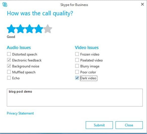 short customer survey example Skype