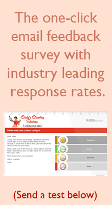 One Click Email Survey Tool Advert