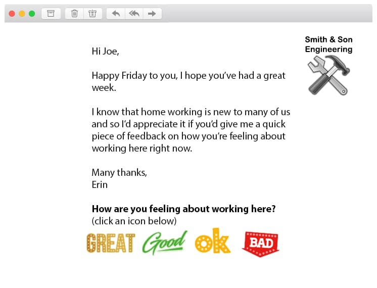 home working feedback employee