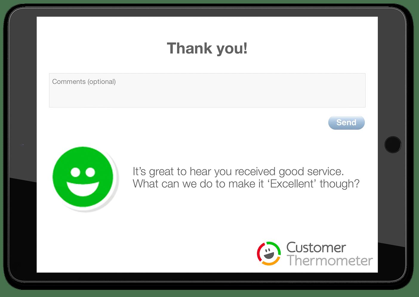 ipad tablet landing page customer satisfaction