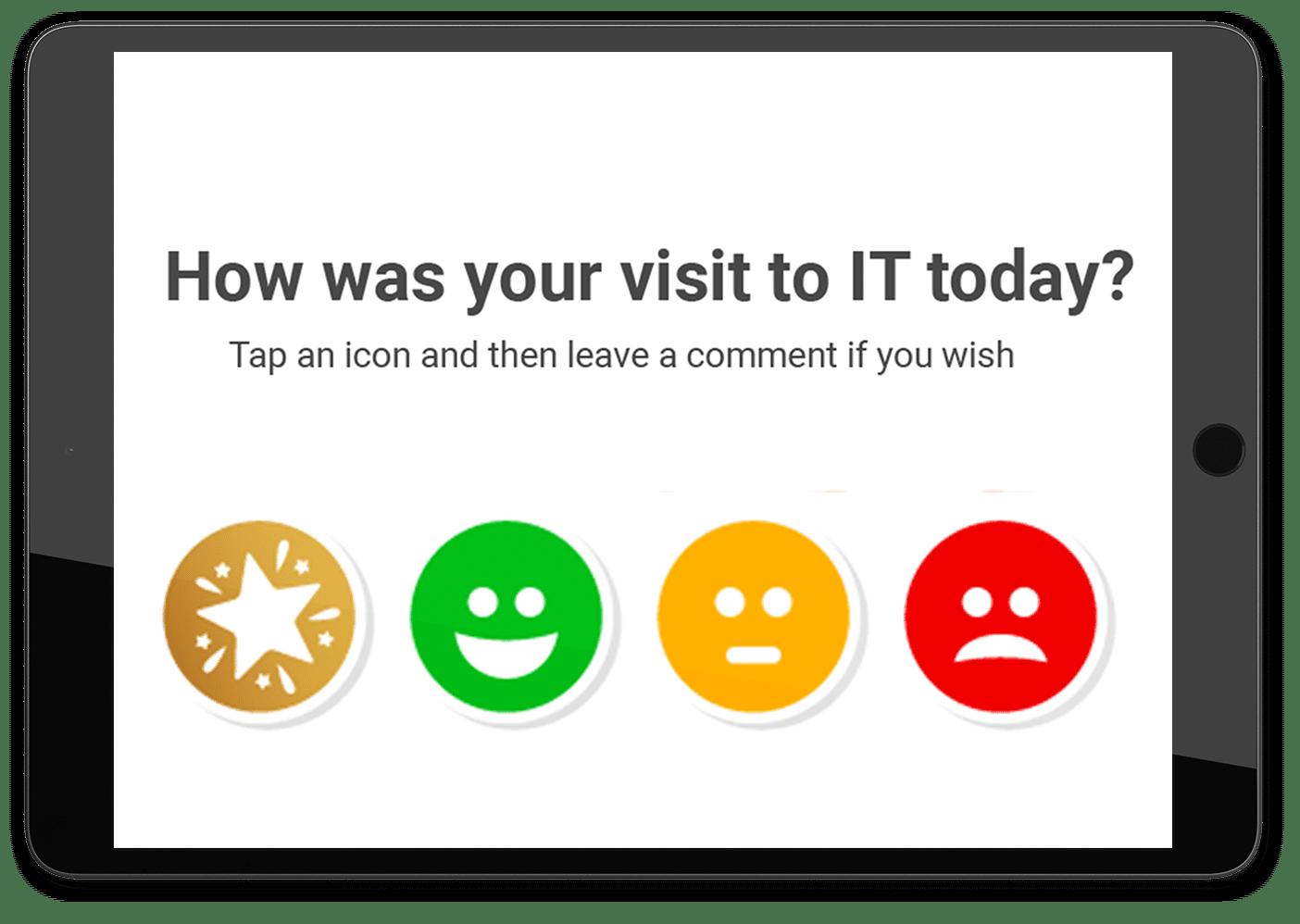 tablet ipad customer survey mock up ct