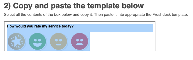 Copy template